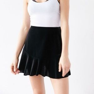 Urban Outfitters Velvet Mini Skirt